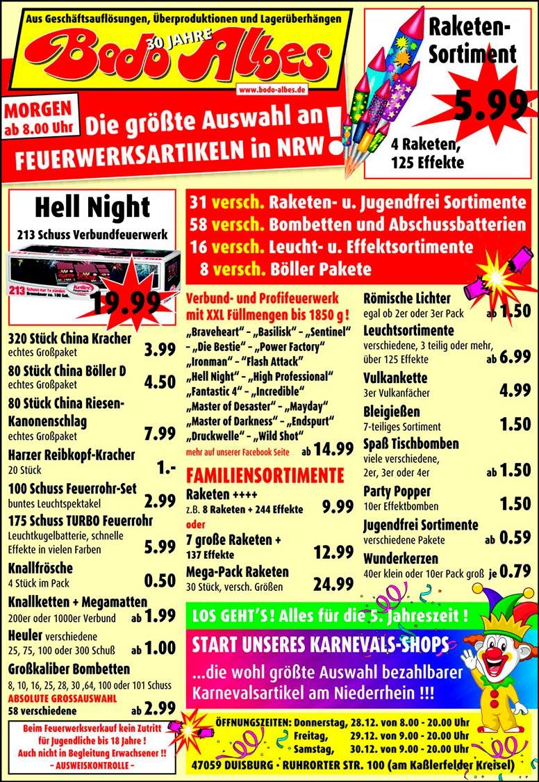 Bodo Albes Duisburg Feuerwerksverkauf 2017