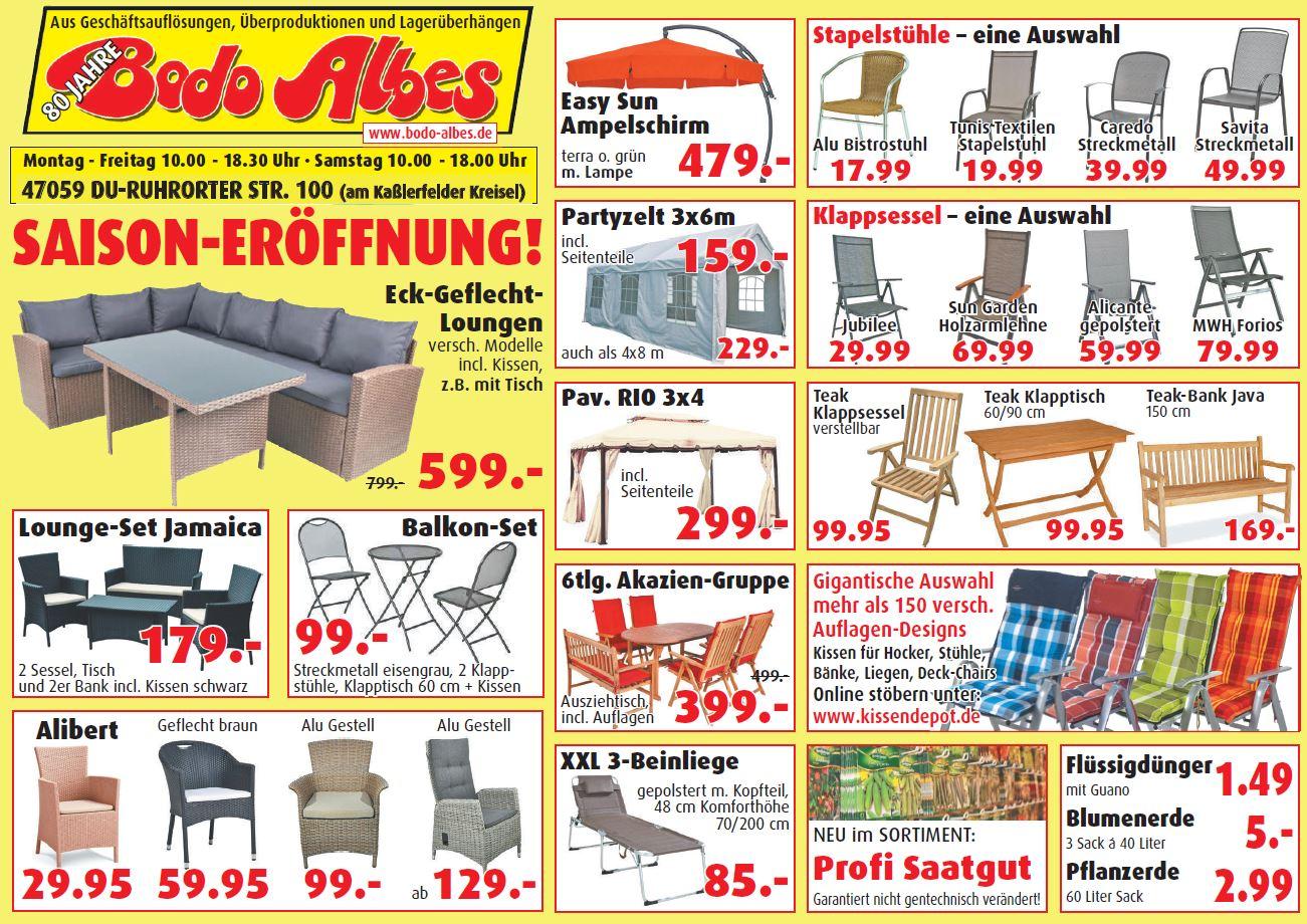 aktuelle werbung bodo albes. Black Bedroom Furniture Sets. Home Design Ideas