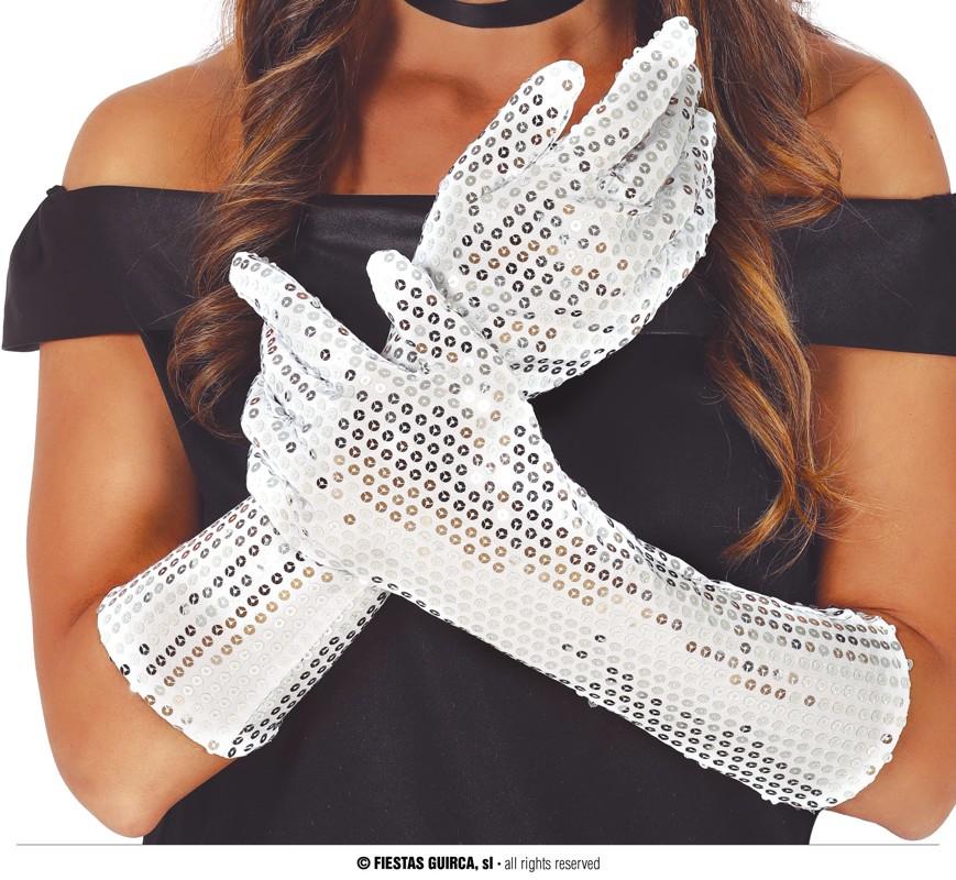 Handschuhe Pailletten